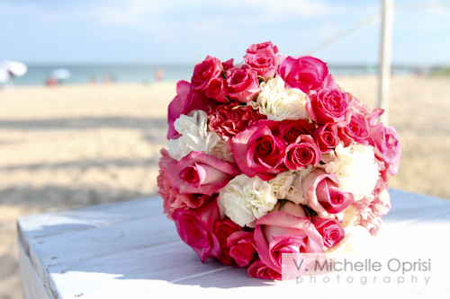 beach, beach wedding, wedding bouquet